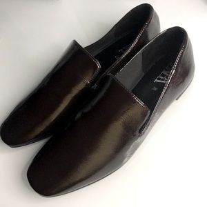 Zara Patent Chocolate Brown Flats